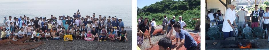 OB様への感謝を込めた真夏の地引網!!