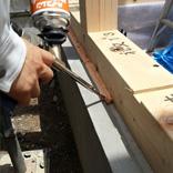 防蟻処理・気密処理 基礎と土台の隙間防蟻用ウレタンフォーム