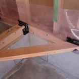 気密処理 気密シートと木部取り合い