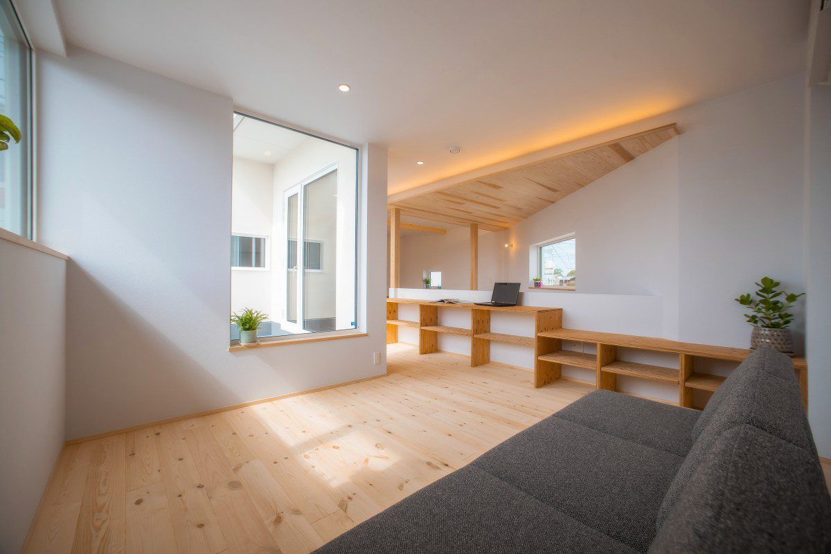 2階リビングでリラックスできる家 画像2