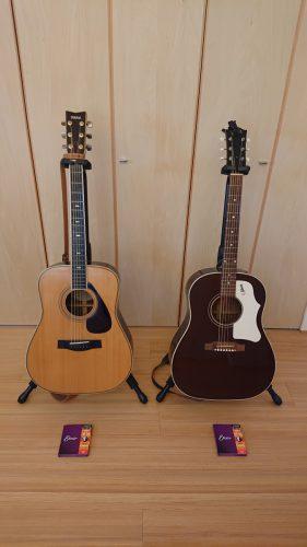 久しぶりにギターの弦交換